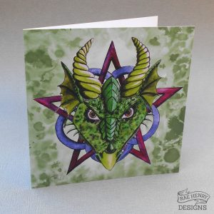 green dragon birthday card