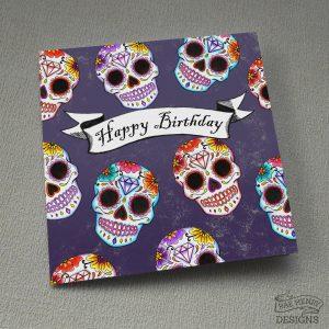 sugar skulls card