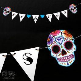 Sugar Skull Wedding Bunting