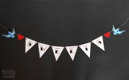 tattoo swallows sweets bunting