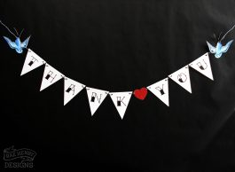 tattoo swallows thank you bunting