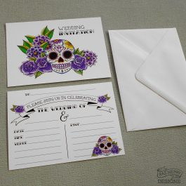 Sugar Skull Wedding Invitations
