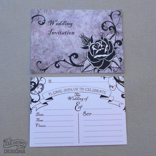 Gothic Rose Invitations wedding