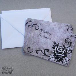 Gothic Rose Invitations