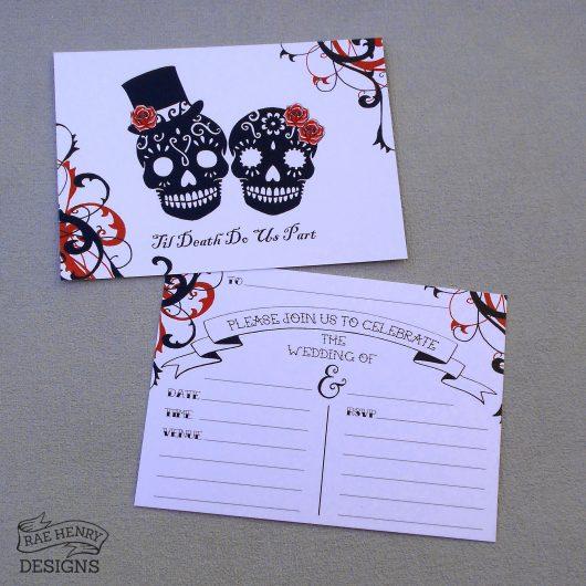 Sugar Skulls Invitations