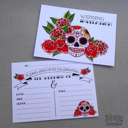 Sugar Skull Wedding Invitations