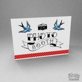 Tattoo Style Photo Booth Sign