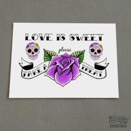 Sugar Skull Sweet Treats Sign