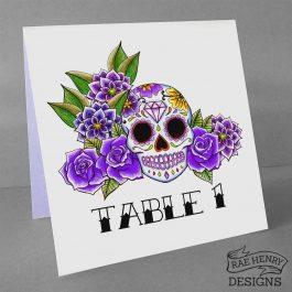 sugar skull table number