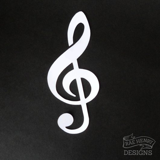 music note place card