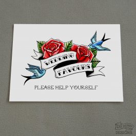 Wedding Favours Sign