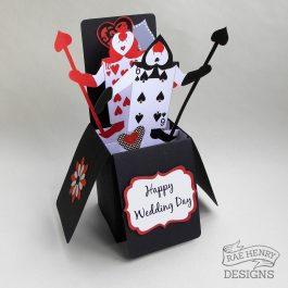 Alice in Wonderland Pop-up Wedding Card