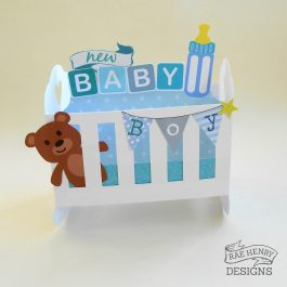 pop up new baby card