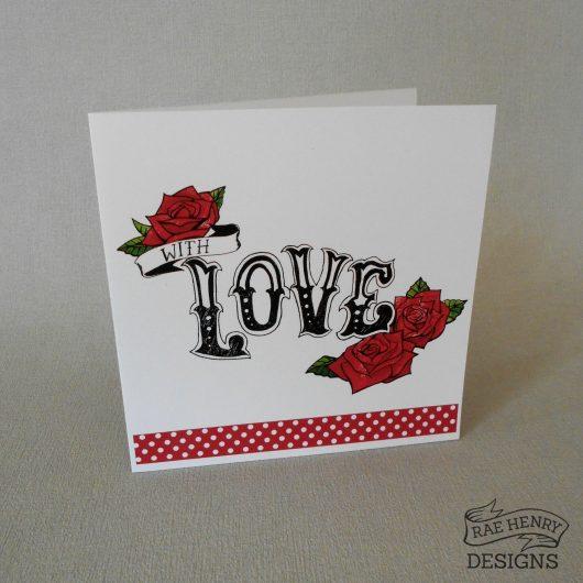 Rose Tattoo Wedding Card