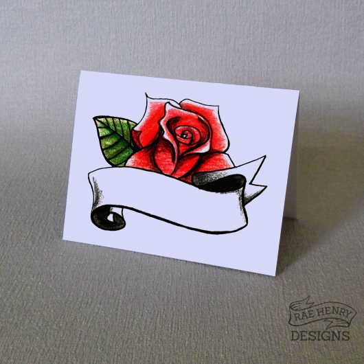 Rose Tattoo Place Cards