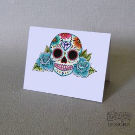 Sugar Skull Place Cards Blue