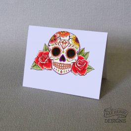 Sugar Skull Place Cards Red