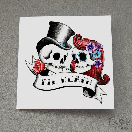 Rockabilly Skulls Card