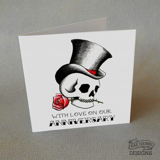 tattoo skull anniversary card