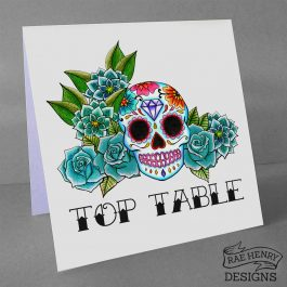 sugar skull top table number