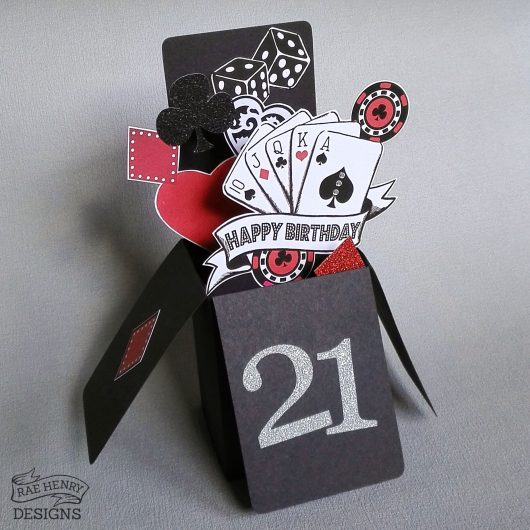 Poker Pop Up Birthday Card