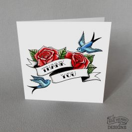 Tattoo Thank You Card