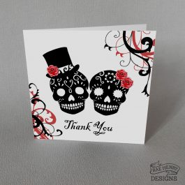Skulls Wedding Thank You Card