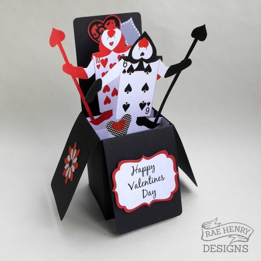 Alice in Wonderland Valentine Card
