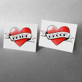 Tattoo Heart Place Cards