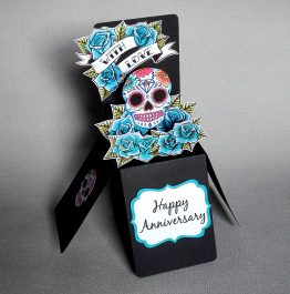 Pop-up Sugar Skull Anniversary Card