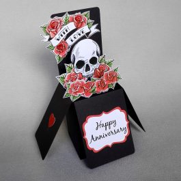 Skull & Roses Pop Up Anniversary Card