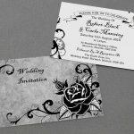 gothic rose invitations