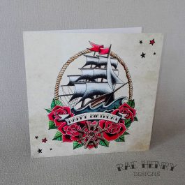 tattoo ship birthday card
