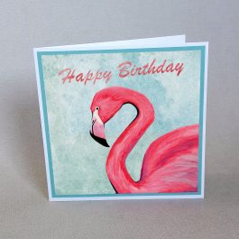 Flamingo Birthday Card