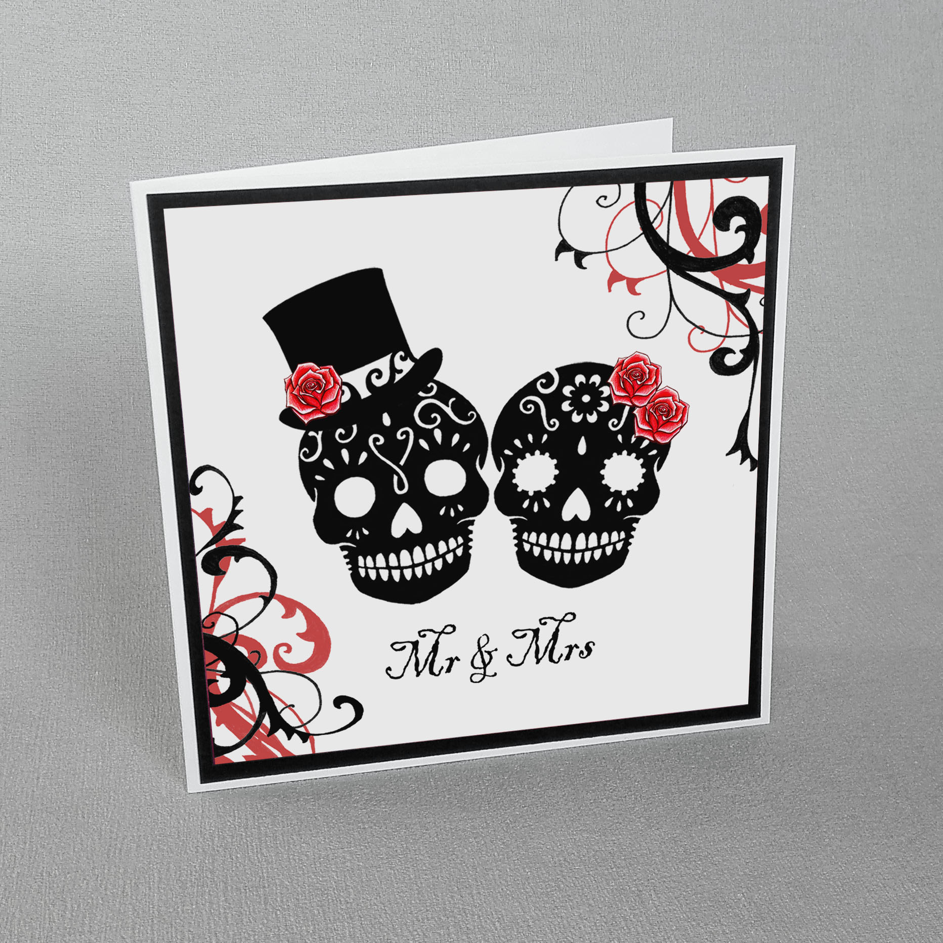 Sugar Skulls Wedding Card