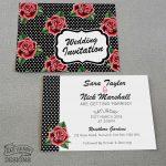rockabilly rose wedding invitations