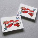 tattoo hearts invitations