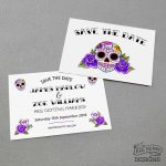 sugar skull save the date