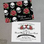 skulls and roses invitation