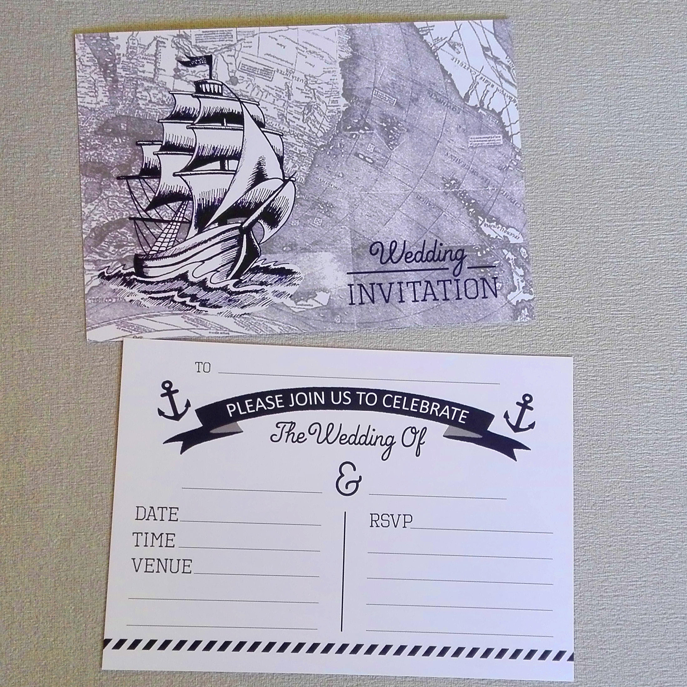 Nautical Wedding Invitations.Nautical Wedding Invitations