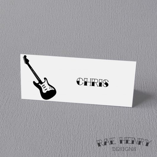 Guitar Place Cards