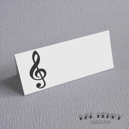 Treble Clef Place Cards