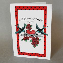 Tattoo Engagement congratulations Card
