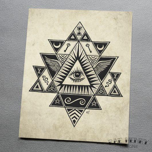 mystical eye art print