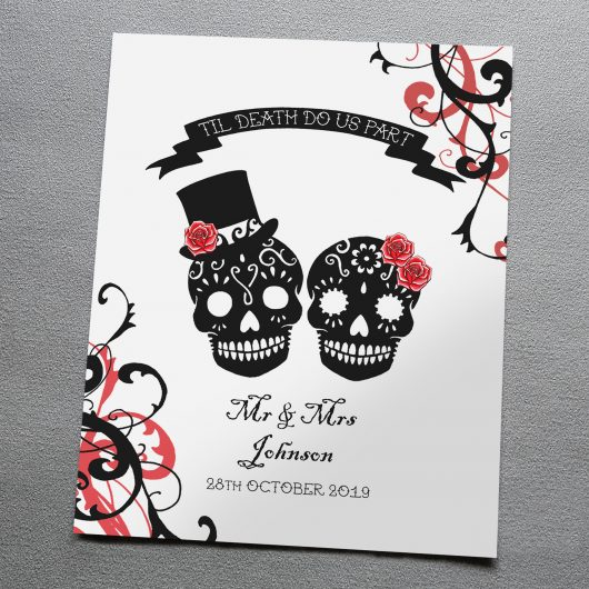Personalised Sugar Skulls Art Print