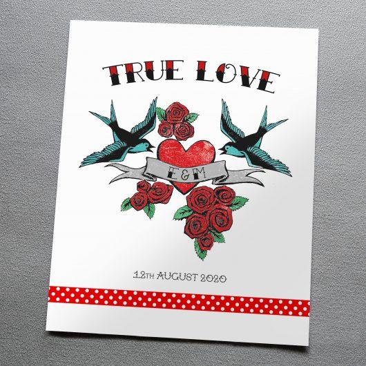 Personalised Tattoo Art Print