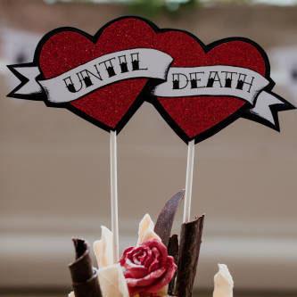 Until Death Wedding Cake Topper