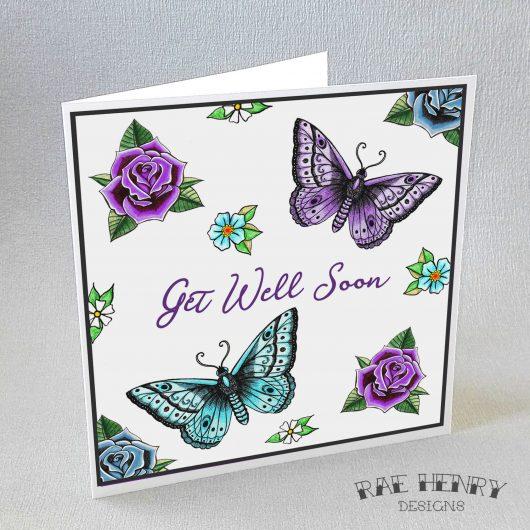 Get Well Soon Tattoo Butterflies