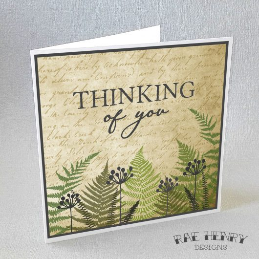 Ferns Thinking Of You Card