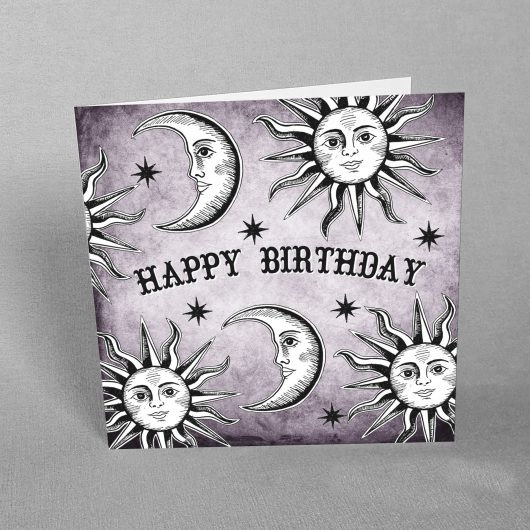 celestial birthday card